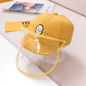 Yellow kid's Protective Cap Hat Dustproof cover